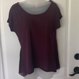 EUC American Eagle burgundy top S/P